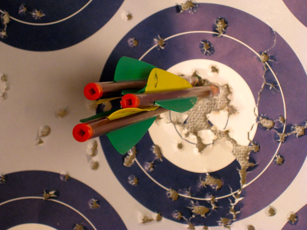 Tight Arrow Group with Crossbow