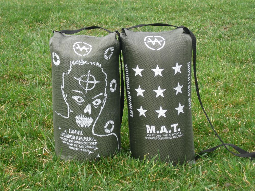 Zombie and M.A.T. archery targets
